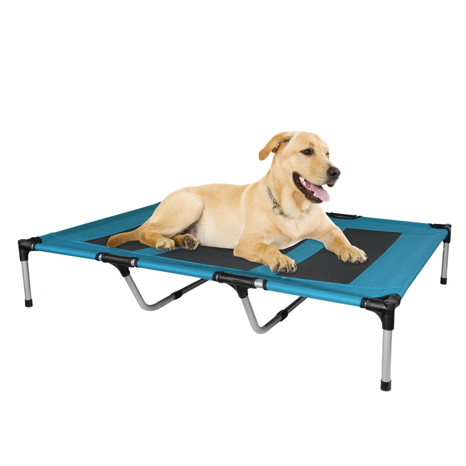 Kopeks - Elevated Indoor Outdoor Portable Bed - Extra Large Size Blue Color