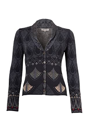 16796e5c536 IVKO Painted Relief Motifs Jacquard Jacket, Anthracite (US 8 - EUR ...