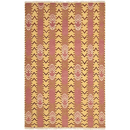 Safavieh Sumak Collection DVE515A Hand-Knotted Pink Amber Premium Wool Area Rug (6' x 9')