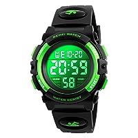 Boys Watch Digital Sports Waterproof Electronic Childrens Kids Watches Alarm Clock 12/24 H Stopwatch Calendar Boy Girl Wristwatch