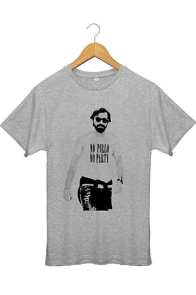 Imprim/é en France Coton 100/% Bio Tee Shirt Football Cadeau Noel pour footeux T-Shirt Homme Foot No Pirlo No Party