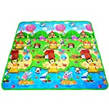 FWQPRA Baby Crawling Puzzle Play Mat Blue Ocean Playmat EVA Foam Children's Gift Toy Kids Carpet Outdoor Play Soft Floor Gym Rug Available Patten & Color (5.8*x3.8* Ft)