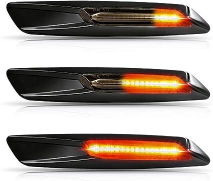Oz Lampe Led Dynamische Led Seitenblinker Blinker 2 X Bernstein 18 Smd Mit Nicht Polarität Can Bus Fehlerfrei Oe Buchse Rauch F10 Style Für E81 E82 E87 E88 E90 E91 E92 E93 E60 E84 E83 Auto