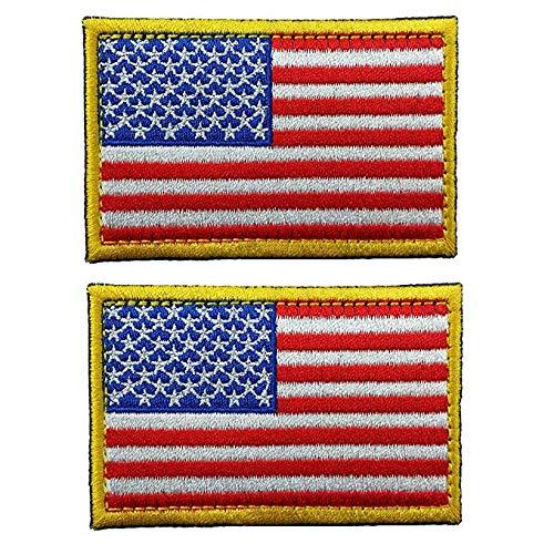 GrayCell US Flag Dog Embroidered Tactical Morale Patch for Dog Harness & Vest- Set of 2 (US Flag)