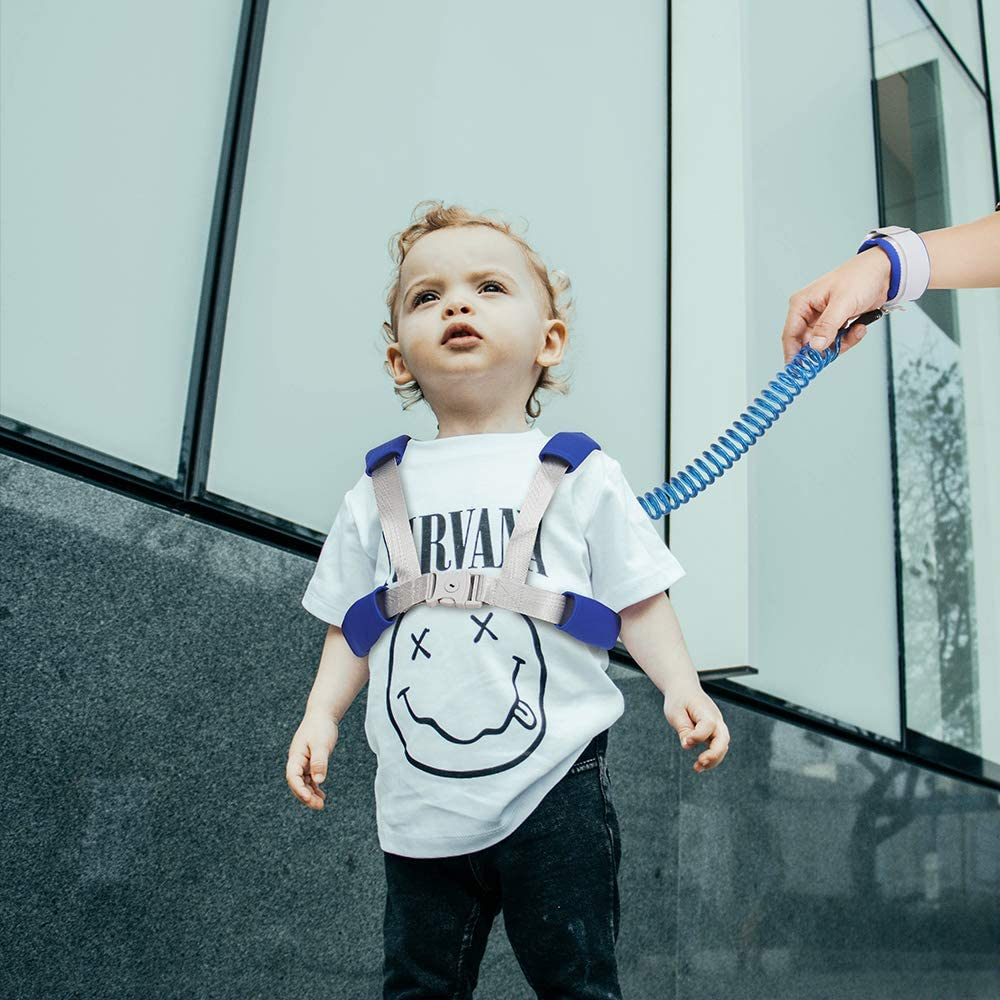Child Backpack Leash for Toddlers /& Kids 98Inch Lengthen Child Safety Walking Leash Blue