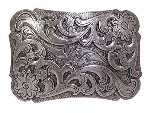 Hagora Men's Sterling Silver Plated Vintage Floral Motif 3