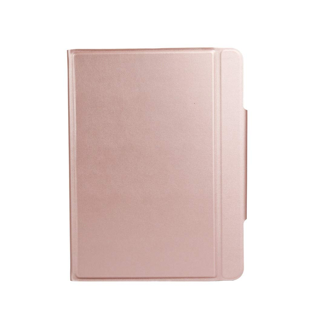 Sonmer Luxury Slim Leather Bluetooth Keyboard Stand Case For iPad Pro (Rose Gold, iPad Pro 11 inch)