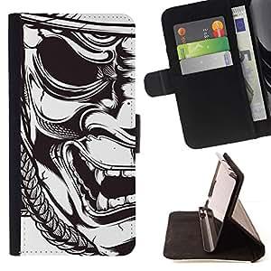 Momo Phone Case / Flip Funda de Cuero Case Cover - Samurai Théâtre Art - LG OPTIMUS L90