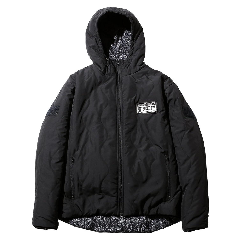 Subciety Hooded Reversible Jacket(サブサエティ リバーシブルジャケット) (L, ブラック/ペイズリー) B076896T3L