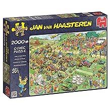 Jumbo Jan Van Haasteren Lawn Mower Race Jigsaw Puzzle (2000-Piece)