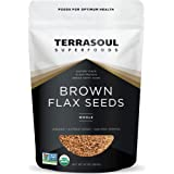 Terrasoul Superfoods Organic Brown Flax Seeds, 2 Pound