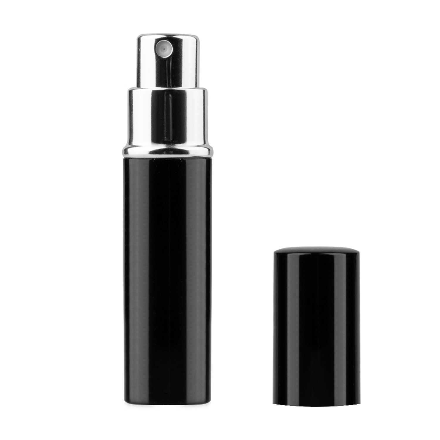 TRIXES 5ml Easy Fill Travel Perfume Aftershave Atomiser Spray Bottle Black PP01