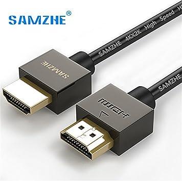 HDMI macho a hembra cable de extensión, 1,5 m/4.9ft alta velocidad 4 K resolución Cable para BLU RAY PLAYER, 3d televisión, portátil, consolas de videojuegos, proyector, PS3, Apple TV: Amazon.es: Electrónica