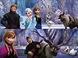 Disney Frozen 5 Wood Puzzles in Wood Storage Box