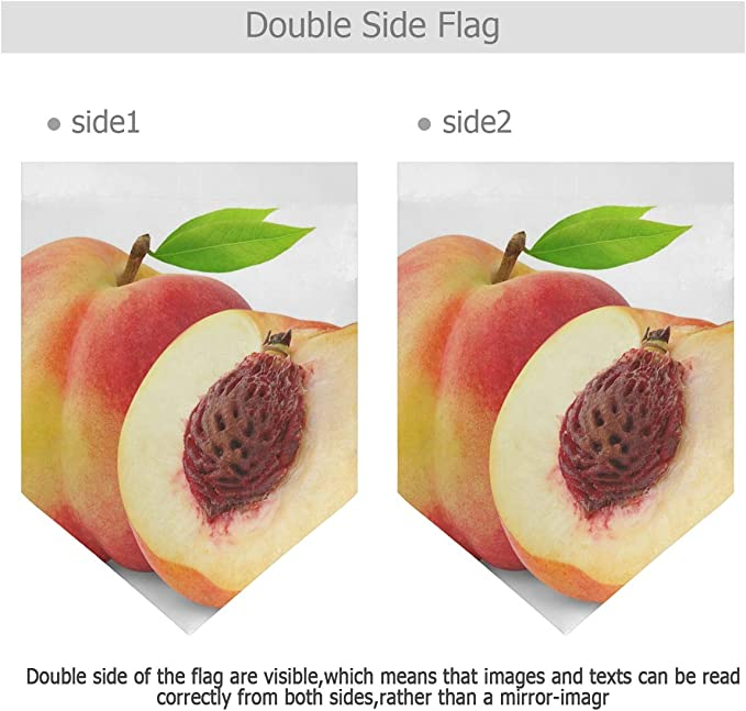 Peach Fruits Garden Flag Double Sided Polyester Yard Flag For Home House Outdoor Decoration 12x18 5 Inch Garden Outdoor