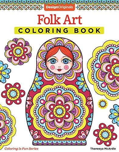 Folk Art Coloring Book (Design Originals) (Coloring Is Fun) Paperback – February 27, 2015