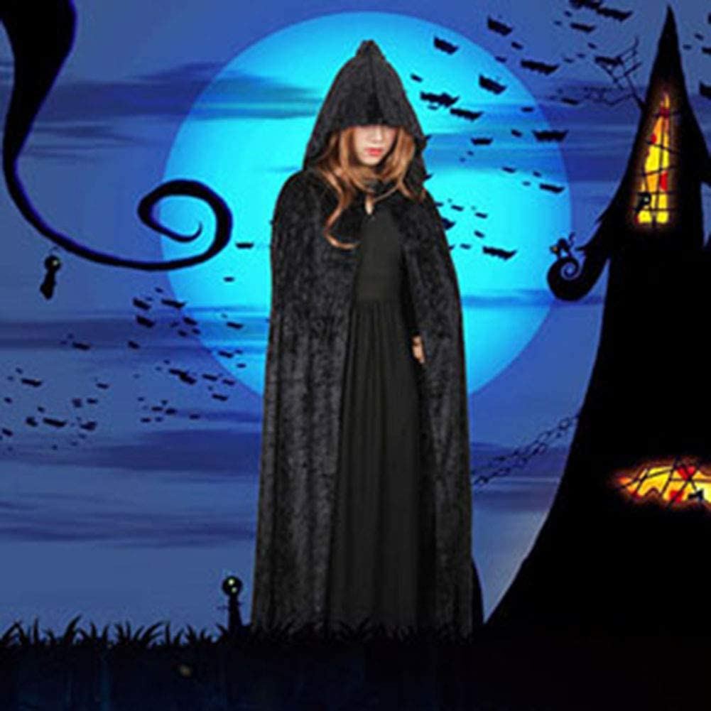 Special Bridal Long Unisex Velvet Capes with Hood Adult Halloween Christmas Cosplay Costume Cloaks
