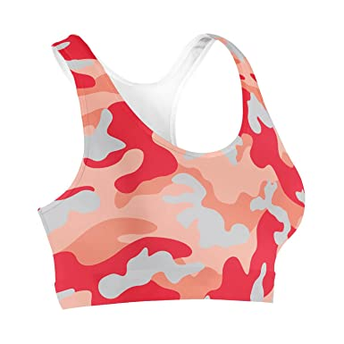 2ab3e274fd519 Camouflage Bright Red Sports Bra - XL  Amazon.co.uk  Clothing