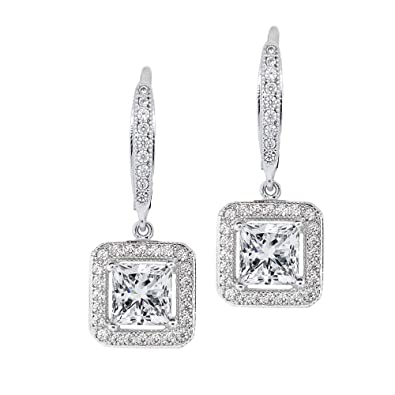 Christmas Gifts 18ct White Gold Plated CZ Crystals Name Necklace ANNE