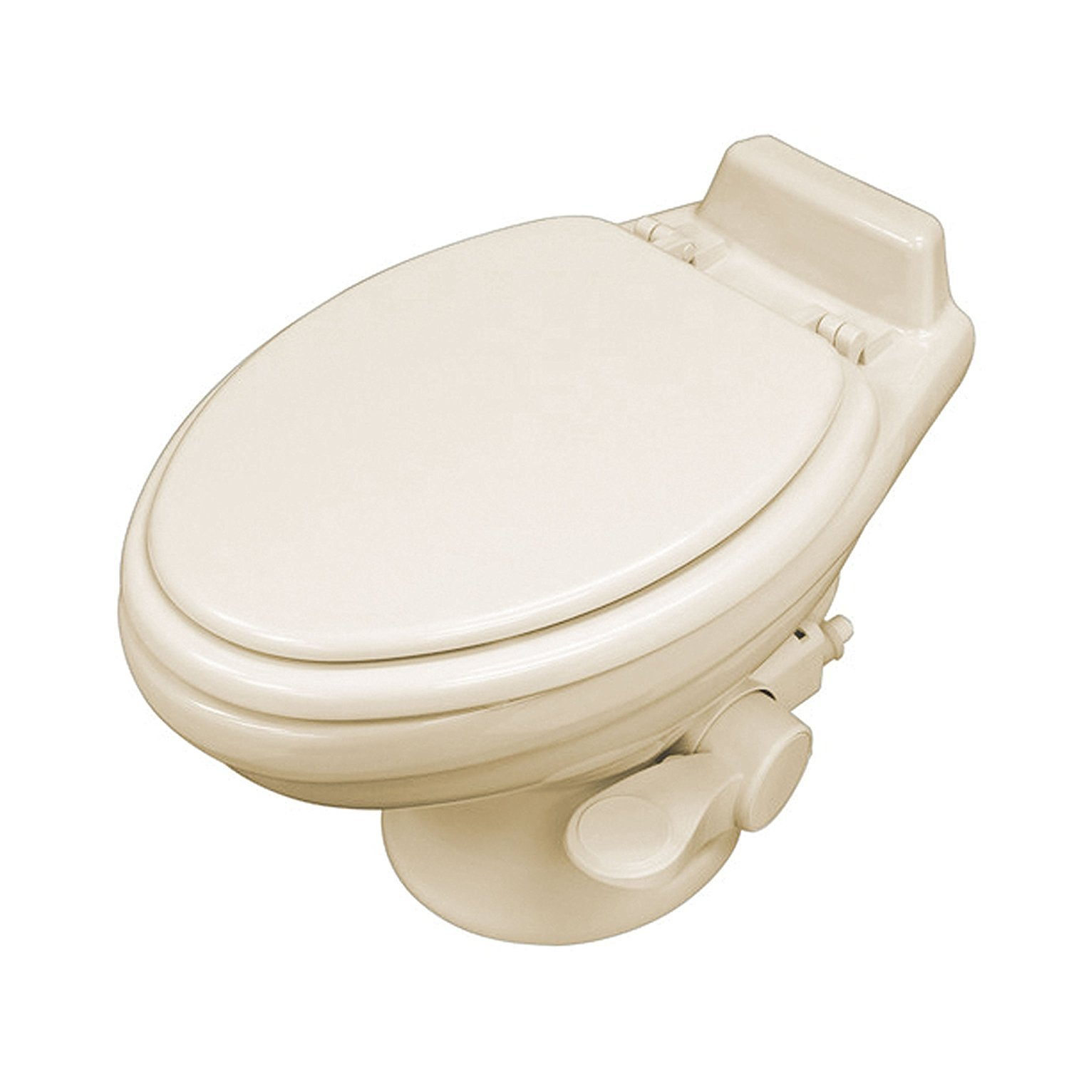 Dometic 320 Series Low Profile Toilet w/ Hand Spray, Bone by Dometic