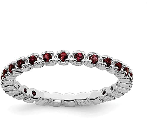 Gemstone Ring Gift For Her Natural Garnet Ring Gemstone Ring 925 Sterling Silver Ring January Birthstone Ring Women Ring