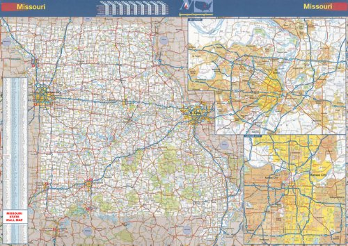 36x50 Missouri State Official Executive Laminated Wall Map - Missouri State Map