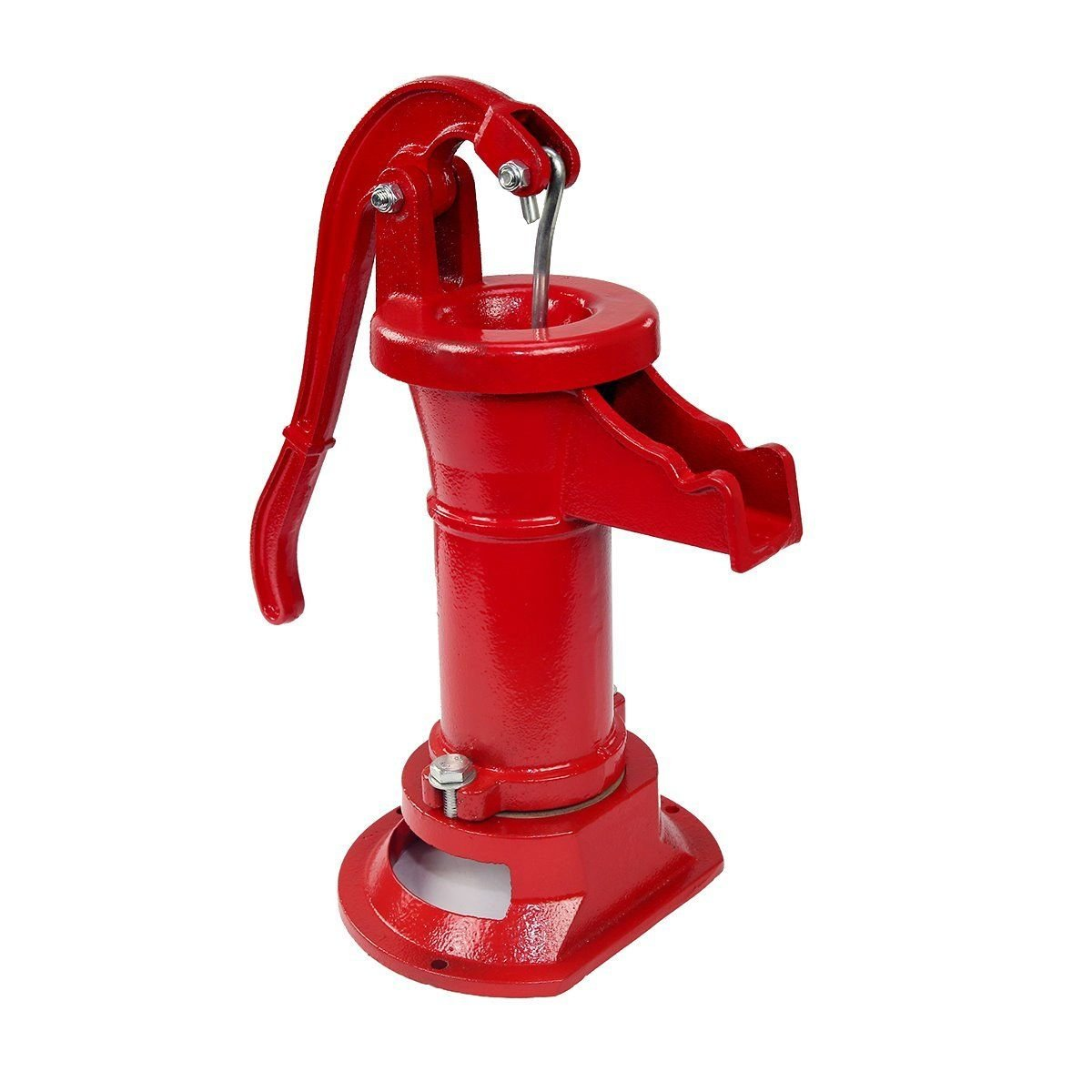 Pitcher Pump 25 Ft Antique Style Heavy Duty Well Hand Operated Cast Iron Red