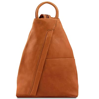Tuscany Leather Shanghai Leather backpack Cognac