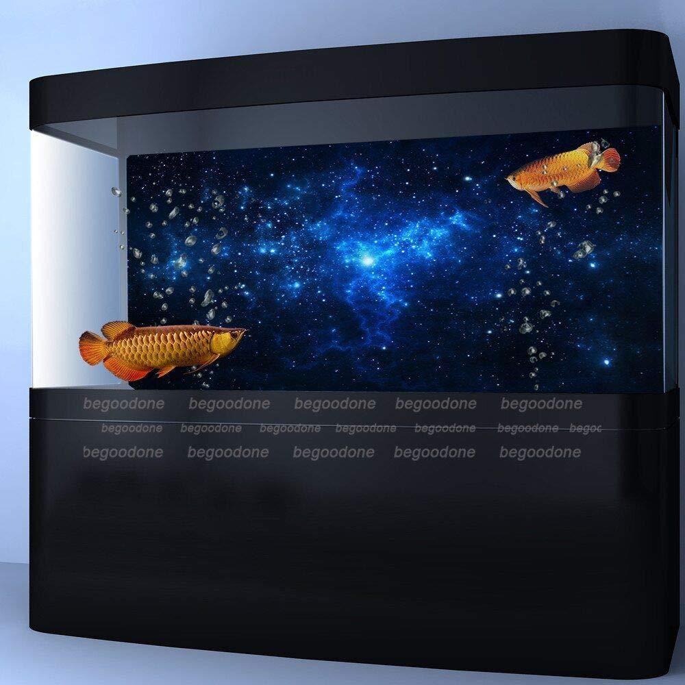 FidgetGear Star Dust Galaxy Aquarium Background Poster Fish Tank Landscape Decoration Paper 48'' x 21''/ 122 x 53cm by FidgetGear