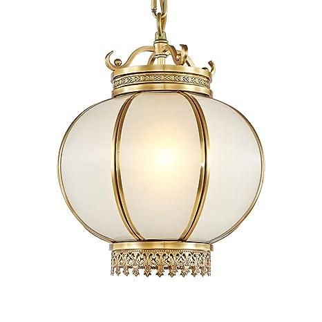 Classic Chino Estilo - Lámpara colgante LED Cobre Cristal ...