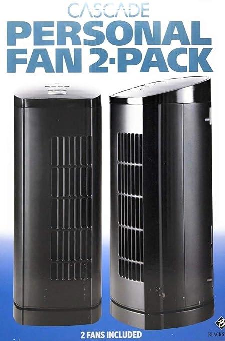 Cascade 33 cm (13 in ) Personal Fan, 2-pack