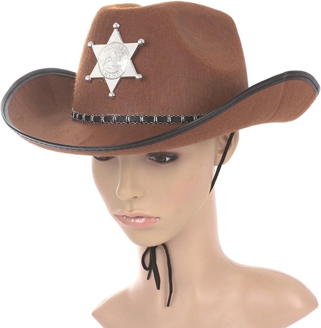 winomo Cowboy Western Wilden chalecos Sheriff sombrero para ...