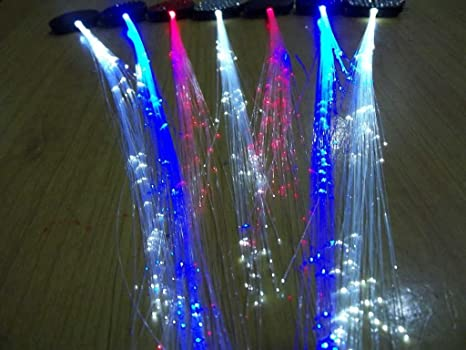 Amazon.com: (2) Pix Hair- Led Fiber Optic Light-up Hair Barrette (Blue): Health & Personal Care