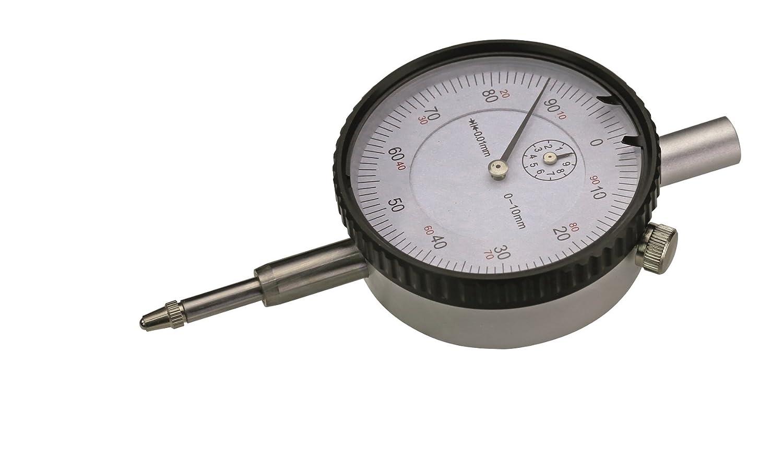 Cnc QualitÄt Messuhr 10 Mm Messbereich Ablesung 0 01 Mm Mit Öse Metallgehäuse Gewerbe Industrie Wissenschaft