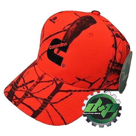 Amazon.com  Cummins Camo Mossy Oak Blaze neon Hunter Orange Ball Cap ... 5667b9c2281