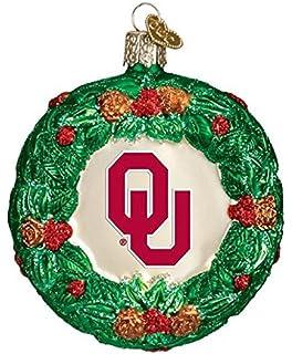 Team Color FOCO NCAA Oklahoma Sooners College Team Logo Holiday Christmas Resin Chalkboard Ornament One Size