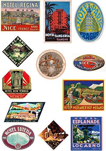 vintage hotel labels - 5