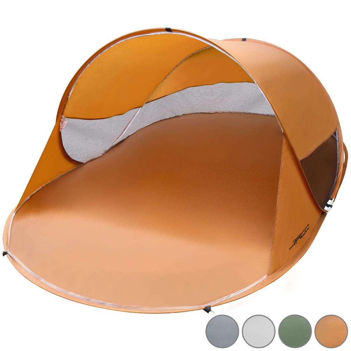 Jago Protection UV Tente Pop Up 2personnes jardin extérieur Camping Pique-nique Abri de plage vert 220x 145x 110cm FF Europe 62662