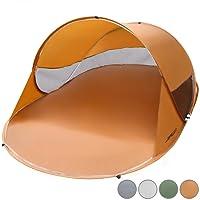 Jago Strandmuschel (Farbwahl) Campingzelt Pop-Up Wurfzelt für 2 Personen ca. 245x145x95cm UV Schutz