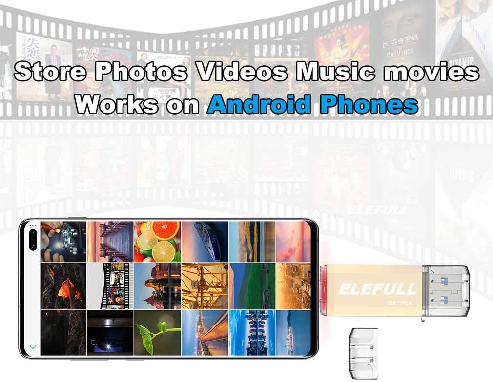 128GB USB Type C Flash Drive 256GB 128GB 64GB 32GB for Android Smart Phones Computer Laptop USB-C 3.0 High Speed Copay Photos Videos Music etc.