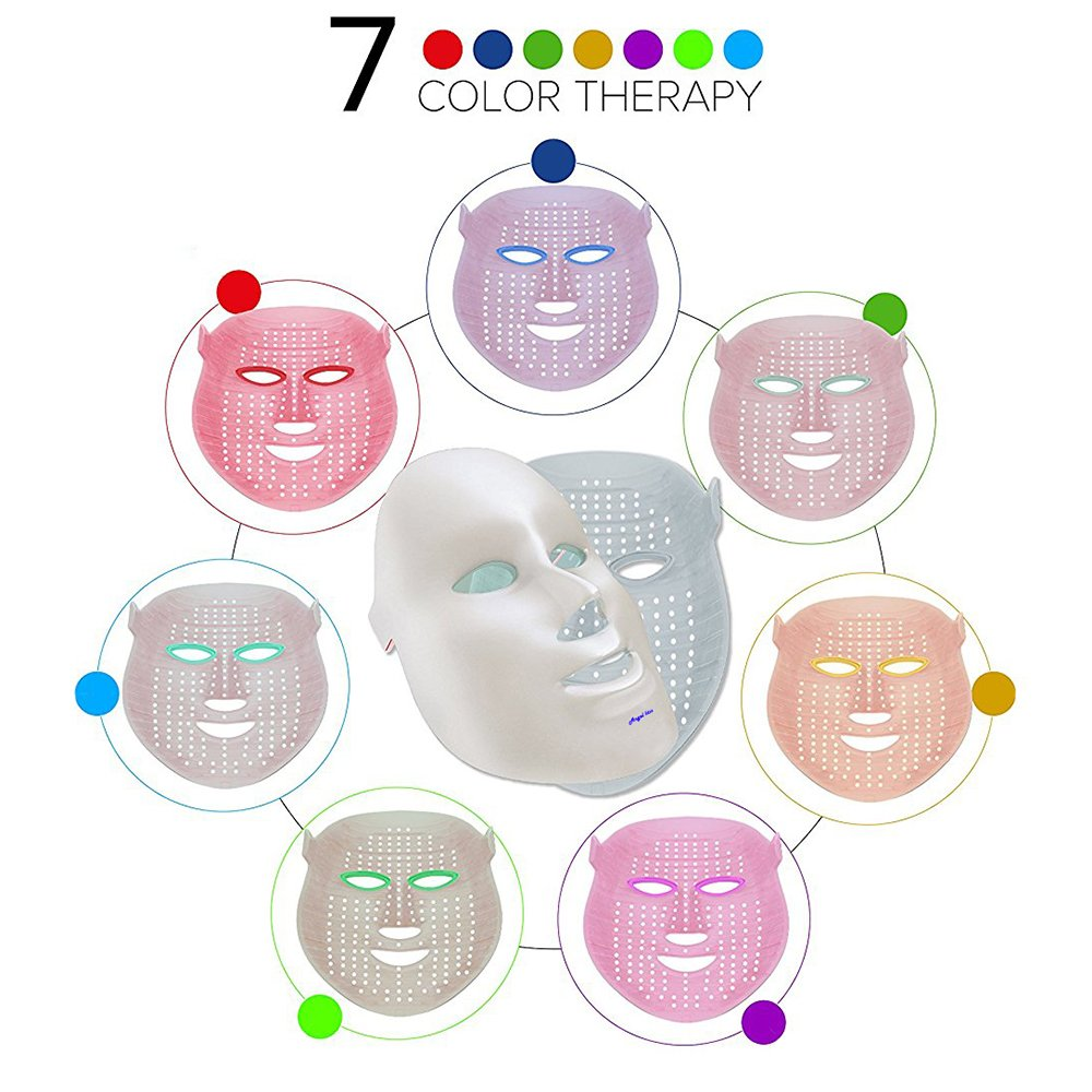 Angel Kiss LED Photon Therapy 7 Color Light Treatment Skin Rejuvenation Whitening Facial Beauty Daily Skin Care Mask (Mask+ Portable Function Board) by Angel Kiss (Image #3)