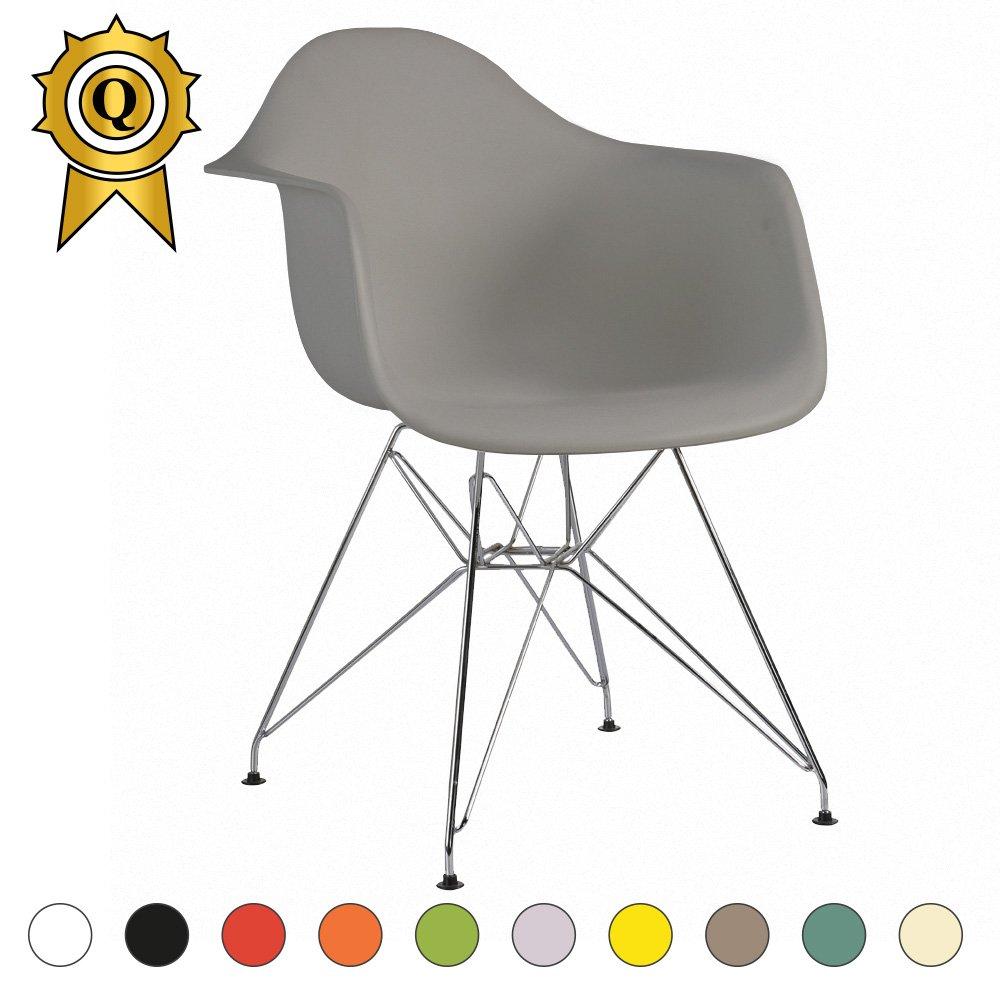 Silla tipo Eiffel con patas de acero cromado y asiento ...