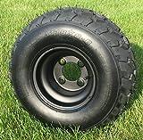 RHOX RXAL 18x8-8 All Terrain Golf Cart Tires and 8' Black Steel Golf Cart Wheels Combo - Set of 4