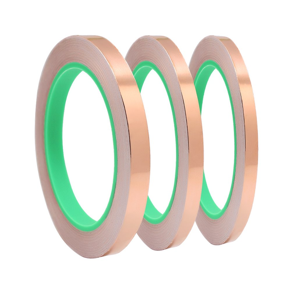 Meetory 3X Copper Foil Tape with Dual Conductive Adhesive for EMI Shielding, Slug Repellent, Crafts, Electrical Repairs (1/4 Inch, 1/2 Inch) 4336904854