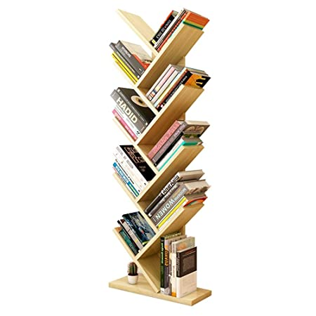 ZR 9 Shelf Tree Bookshelf Shape Floorstanding Modern Bookshelves Wooden