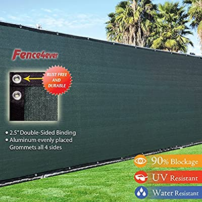 4' x 50' 3rd Gen Olive Dark Green Fence Privacy Screen Windscreen Fabric Mesh Tarp (Aluminum Grommets)