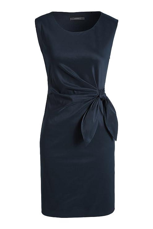7e8d70c30dd3 ESPRIT Collection Damen Kleid 995EO1E900, Blau (Dark Navy 420), 40   Amazon.de  Bekleidung