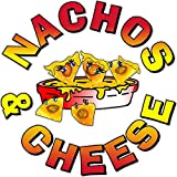 Nachos & Cheese 8'' x 8'' food truck restaurant cafe vinyl decal window or wall mural