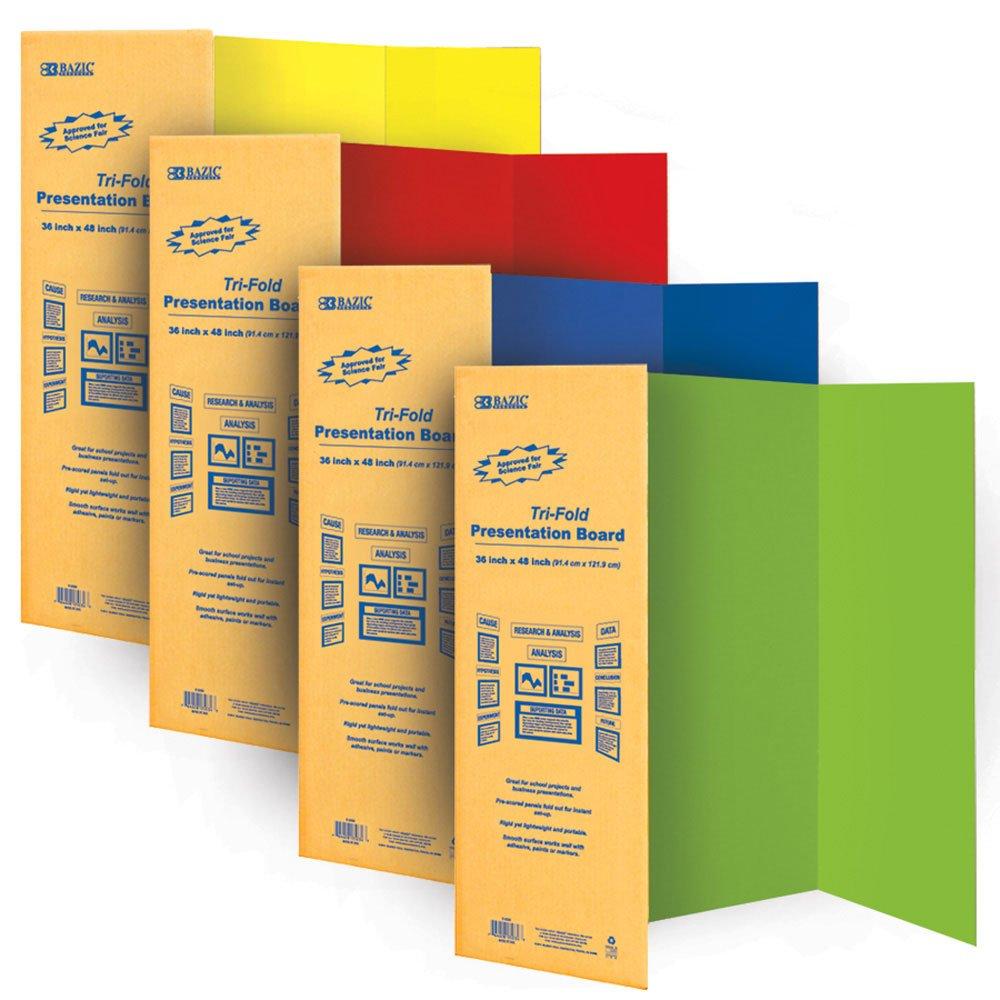 amazon com bazic tri fold corrugated presentation board 36 x 48