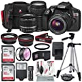 Canon EOS Rebel T6 DSLR Camera with EF-S 18-55mm f/3.5-5.6 IS II Lens, EF 75-300mm f/4-5.6 III Lens, 64GB, along with Fibertique Cleaning Cloth, and Xpix cleaning Kit and Deluxe Accessory Bundle